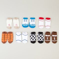 This is one of my favorites on totsy.com: Infant Sport Socks -7 Piece Box Set