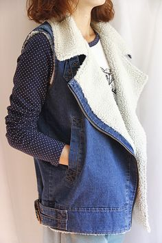 VIP SIX Lady jeans fall/winter SHOP new warm thick plush zipper vest waistcoat jacket
