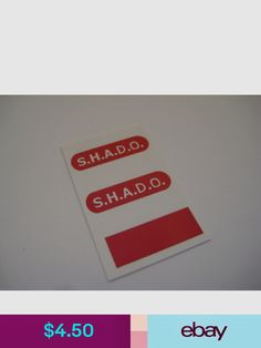 Stickers B2G1F Red Round Dinky 351 Shado U.F.O.