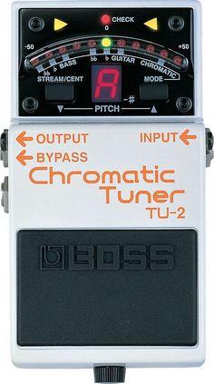 Boss TU-2 Chromatic Guitar Pedal Tuner Guitar Effects Pedals, Guitar Pedals, Boss Effects, Guitar Modes, Boss Pedals, Pedalboard, Bass, Jake Pitts, Black Veil