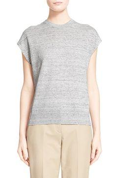 MICHAEL KORS Cap Sleeve Linen Top. #michaelkors #cloth #