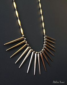 Dramatic Spike Statement Necklace