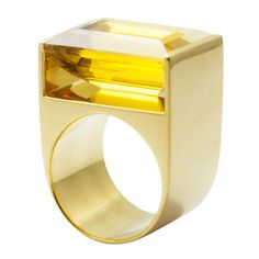 Perfect yellow gold and citrine ring from the Geometry collection ♕BOUTIQUE CHIC♕