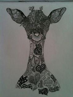 doodle giraffe