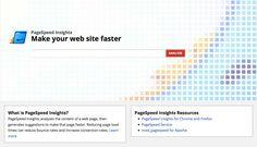 pagespeed, pour ameliorer la rapidité d'affichage d'un site