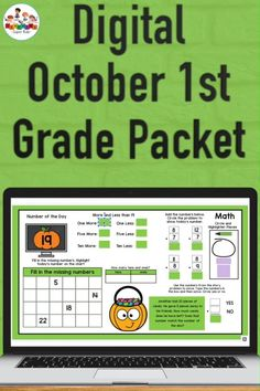 Online teaching activities for first graders. This set of daily practice skills includes activities for reading, writing, math and so much more. Simply assign the weekly set of activities through Google classroom and your students will be learning and engaged. There are 4 weeks worth of activities in this packet and is perfect for distance learning and is perfect for the month of October. First Grade, Grade 1, Second Grade, Teacher Created Resources, Teacher Resources, Hands On Learning, Google Classroom, Kindergarten Activities, Distance
