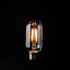 T45 Filament LED from Vintage LED. 3W 2200k LED filament with E27 base. 45mm width x 80mm height. www.vintageled.com.au