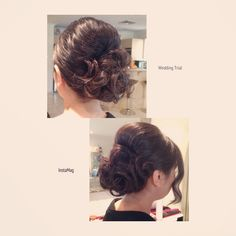 Picture of wedding hair trial I did for a client.