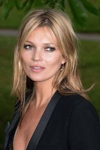 Kate Moss. Hair down for evening event. June 2013.