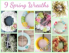 9 Springs Wreaths You Can Make @CraftBits & CraftGossip. A cure for Winter doldrums and Spring fever