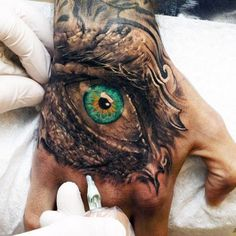 Hand Tattoos For Guys - The Eye