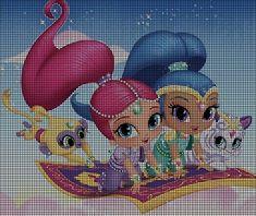 Shimmer & Shine Fly Crochet Pattern Craft Patterns, Crochet Patterns, Frozen Cross Stitch, Shimmer N Shine, Shopkins, Perler Beads, Cross Stitching, Crochet Projects, Cross Stitch Patterns