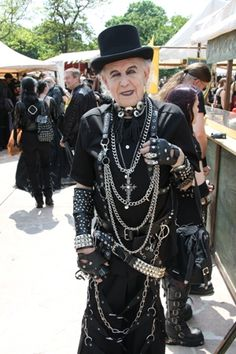An ELDER goth! Reflects that goth is indeed a feeling of who you are - that doesn't go away with age!