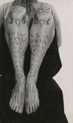 Alfred GESCHEIDT - Françoise Sagan, body painting, c. 1955