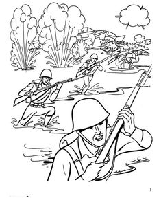 Veterans Day Coloring Pages, World War II - D-Day Veterans coloring page sheets Normandy Beach, D Day Normandy, Coloring Book Pages, Printable Coloring Pages, Coloring Sheets, Veterans Day Coloring Page, History Lessons For Kids, Soldier Drawing, Color Wars