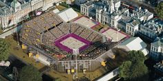 Every year, visitors from around the world make their way to Horse Guards Parade in London to watch the pageantry of Trooping the Colour. In 2012, millions will gather there to enjoy a very different sight: sun, sand and world-class beach volleyball.