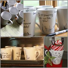 dollar store mugs + your child's handwriting = a great personalized gift for Grandma, Grandpa, Aunts, Uncles, and friends