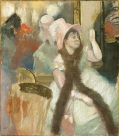 Portrait after a Costume Ball (Portrait of Madame Dietz Monnin), 1879 Edgar Degas - Technique - pastel Edgar Degas, Mary Cassatt, Manet, Art Ancien, Pierre Auguste Renoir, National Gallery Of Art, Art Gallery, Impressionist Art, Art Institute Of Chicago