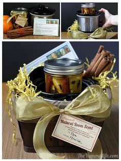 Natural Room Scent Jars for gifts from The Yummy Lift