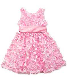 Rare Editions Little Girls' Soutache Dress - Kids Dresses & Dresswear - Macy's