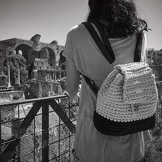 I love backpacks! Ransen Backpack crochet pattern by Lavi V (UK terminology)