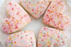 V Day sugar cookies
