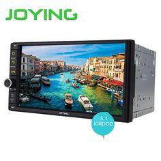 Joying Quad Core 7 Inch 1024*600 2 Din Android 5.1 Car Audio Stereo Radio With GPS TV 3G WiFi Universal GPS Navigation Head Unit