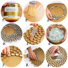 9 Manualidades para reciclar corcholatas de botellas en casa ~ Solountip.com