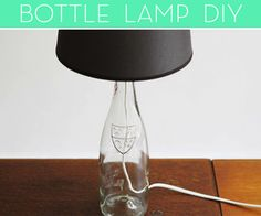 How To: Make a Lamp out of a Glass Bottle | Home Decor News