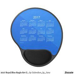 2017 Royal Blue Angle Art Calendar by Janz Gel Mouse Pad