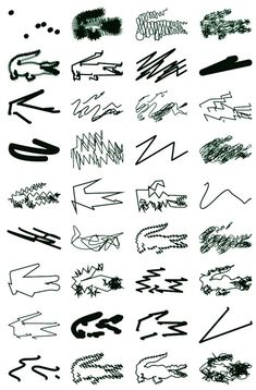 Lacoste logo designs, by Peter Saville (2013)