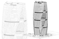 """Zaha Hadid Architectshas proposed an office towerin Beijingthat is said to have the """"world's tallest atrium."""""""