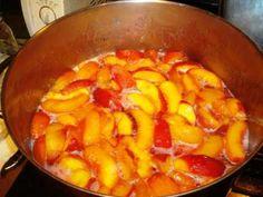Canning Peaches Making Peach Preserves