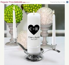 On Sale Personalized Wedding Unity Candle by CathysCustomCandles