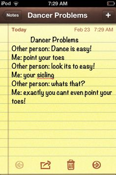 Dancer Problems ♥ Wonderful! www.thewonderfulworldofdance.com #ballet #dance