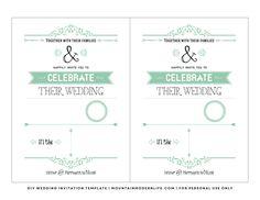 Free printable wedding invitation template free printable free vintage rustic diy wedding invitation template mountainmodernlife stopboris Image collections