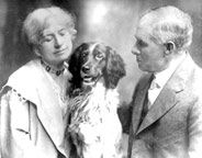 Annie, Frank Butler and their dog Dave