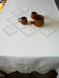 Needful Things, Embroidery, Tea Time, Home Decor, Honey, Needlepoint, Table Toppers, Hardanger Embroidery, Decoration Home