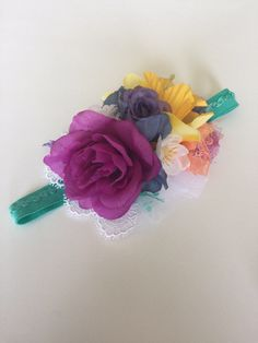 Floral headband M2M MJ; baby headband; flower headband. by AlexasFlowerBowtique on Etsy https://www.etsy.com/listing/517747057/floral-headband-m2m-mj-baby-headband