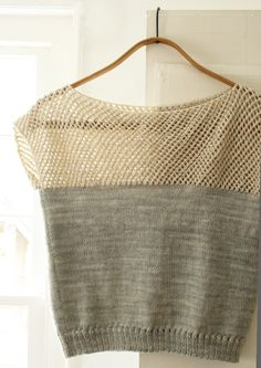 Purl Bee; Lauras Loop: Cap Sleeve Lattice Top