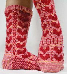 Sweetheart Socks - Knitting Patterns and Crochet Patterns from KnitPicks.com