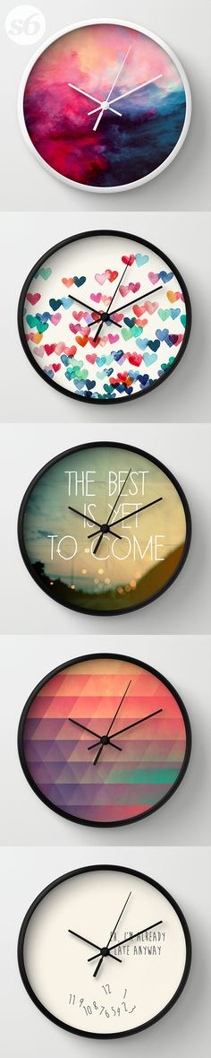 Wall Clocks and millions of other products available atSociety6.com today. Every…