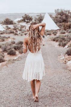 boho white dress