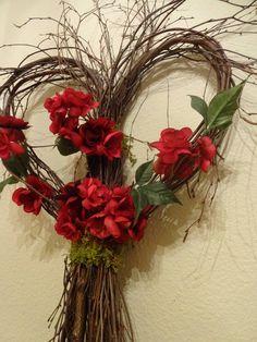 Items similar to Heart Wreath Wedding Decorations Heart Twig Wreath Wedding Wreath Floral Wreath Twig Wreath Large Wreath Front Door Wreath on Etsy Valentine Wreath, Valentine Decorations, Wedding Decorations, Valentine Heart, Heart Decorations, Heart Wreath, Grapevine Wreath, Willow Wreath, Indoor Wreath