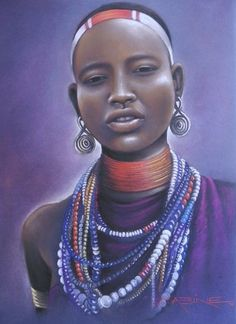 African Lady by Sabine Barber
