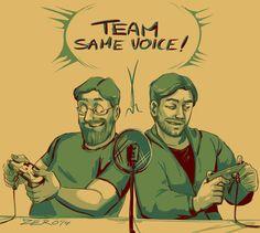 Team same voice jack and Ryan