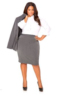 2ace80a5c37 Plus Size Suiting and Wear to Work Options with Ashley Stewart  The Skirt  Suit