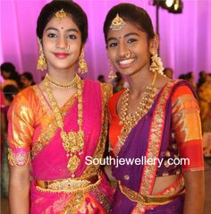Teenagers in Traditional Gold Jewellery photo