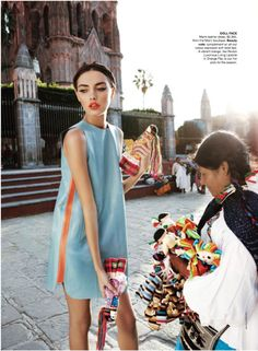 Alina Baikova for Vogue Australia March 2011 (I've photographed the same doll seller in SMA)