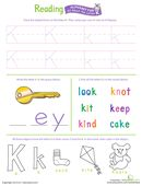 Get Ready for Reading: All About the Letter K